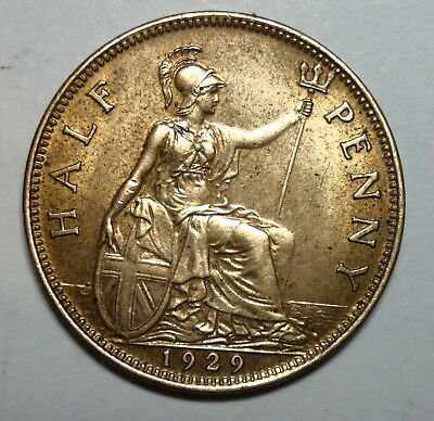 Great Britain  Halfpenny  1929.