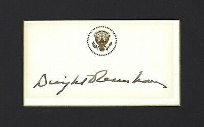 Dwight Eisenhower Signed President's Business Card, EXTREMELY RARE, JSA LOA
