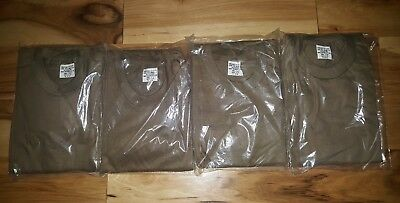 NEW LOT of 4 Union Underwear Co Vtg 1986 US Army Brown Undershirt TShirt Small