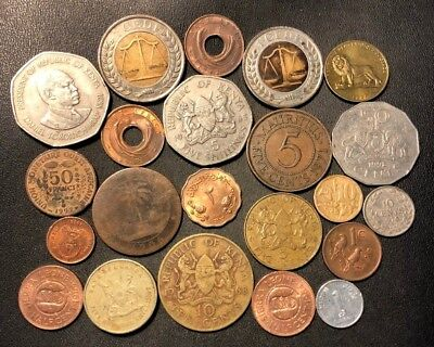 Old Africa Coin Lot - 1906-Present - 22 UNCOMMON Type Coins - Lot #920