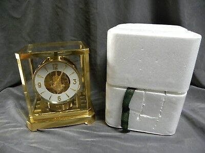 Vtg LeCoulter Atmos  Perpetual Motion Mantle Clock W/Original Foam Packing(A150)