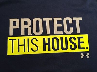 Mens Under Armour Protect This House S/S T-Shirt Size Youth Extra Large (YXL)