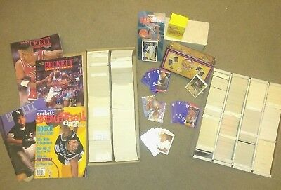 Lot Of 5000 Vintage Nba Basketball Cards Some New With 4 Beckett Guides