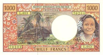 French Pacific Territories 1000 Francs Banknote 1996 CU