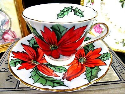 TUSCAN tea cup and saucer painted floral pattern teacup England