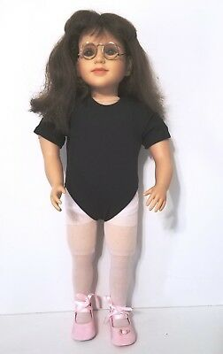 "My Twinn Doll ~ Vintage 2003 Brown Hair and Eyes 23"" - Glasses - Needs TLC"
