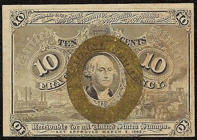 10 CENT FRACTIONAL CURRENCY 1863 1867 UNITED STATES NOTE PAPER MONEY Fr 1244