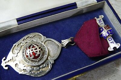 Finest Quality Masonic Medal Set With Sparkling Stones - Bro A Dyson - Very Rare
