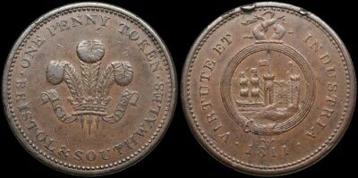 Great Britain. One Penny Token, Birmingham and South Wales, 1811