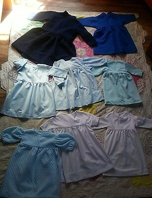 Lot 8 Pa dutch Amish Girl Authentic dress Small Baby-4 Doll Prim Country handmad