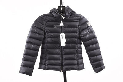 Moncler Iraida navy girls 8 quilted hooded packable puffer coat jacket NEW $475