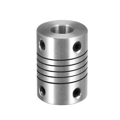 4mm to 8mm Shaft Coupling Flexible Coupler Motor Connector Joint L25xD18 Silver