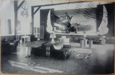 Vintage RPPC Postcard recreation hall interior Keesler Field AFB 1944 WW2 !!!!!!