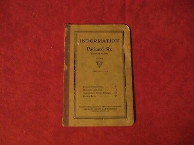 1925 Packard six Owner's Operator's Manual Guide Instruction book Old Original