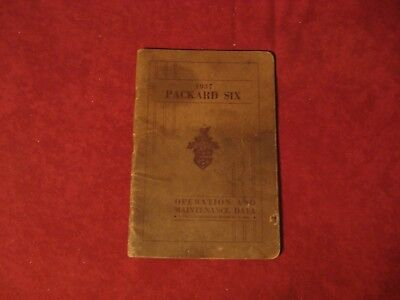 1937 Packard six Owner's Operator's Manual Guide Instruction book Old Original