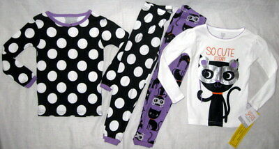 Nwt 2 Pr/4 Pc Carters Toddler Girl Halloween Long Sleeve Pants Pajamas 2T 2 Yr