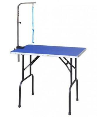 Go Pet Club Dog Grooming Table with Arm - Steel