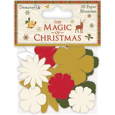 Dovecraft - The Magic of Christmas - 30 Paper Blossoms - flowers