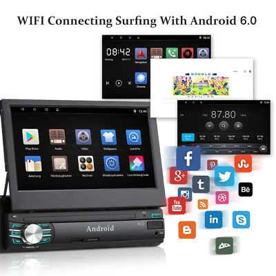 Excelvan RM-CT0013 Android 6.0 1 Din 7 Inch Touchscreen Navig Car Media Player