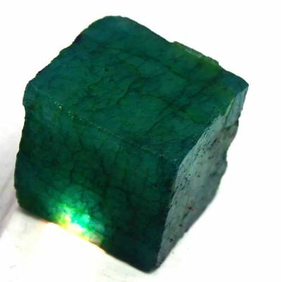 220 Ct Certified Natural Impressive A1 Quality Green Emerald Rough Gems AM1656