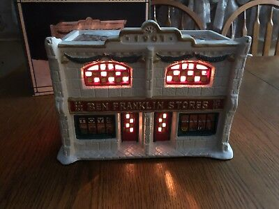 Christmas Valley Mainstreet Collectors Series- Ben Franklin Store Lighted