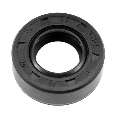 Oil Seal, TC 16mm x 30mm x 10mm, Nitrile Rubber Cover Double Lip