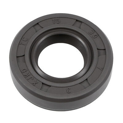 Oil Seal, TC 15mm x 30mm x 7mm, Nitrile Rubber Cover Double Lip