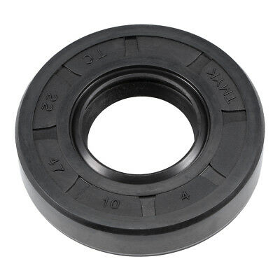 Oil Seal, TC 22mm x 47mm x 10mm, Nitrile Rubber Cover Double Lip
