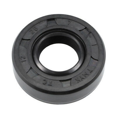 Oil Seal, TC 12mm x 26mm x 7mm, Nitrile Rubber Cover Double Lip