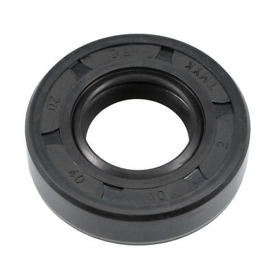 Oil Seal, TC 20mm x 40mm x 10mm, Nitrile Rubber Cover Double Lip
