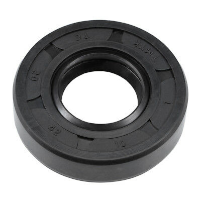 Oil Seal, TC 20mm x 42mm x 10mm, Nitrile Rubber Cover Double Lip