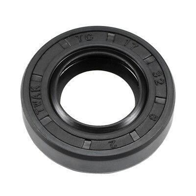 Oil Seal, TC 17mm x 32mm x 8mm, Nitrile Rubber Cover Double Lip
