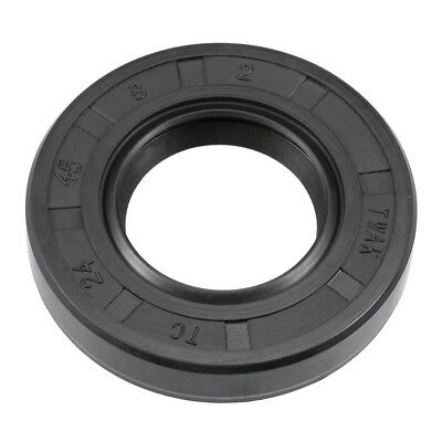 Oil Seal, TC 24mm x 45mm x 8mm, Nitrile Rubber Cover Double Lip