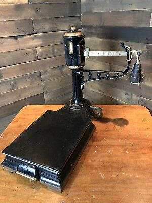 Lovely set of miniature antique Avery platform type scales cast iron superb!