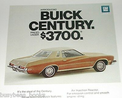 1973 BUICK CENTURY advertisement, Buick Century 2-door was only $3700