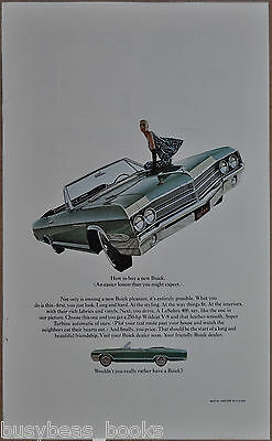 1965 BUICK LESABRE advert, Buick LeSabre 400 convertible, fish-eye lens photo