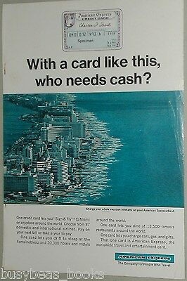 1966 American Express Company advertisement page, AM EX Credit Card, Miami
