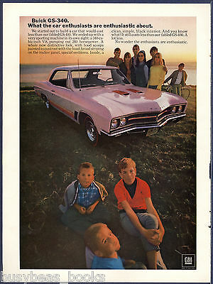 1967 BUICK GS-340 advertisement, 2-door GRAN SPORT hardtop on the beach