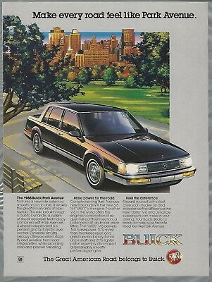 1988 BUICK PARK AVENUE advertisement, Buick ad, Park Avenue New York