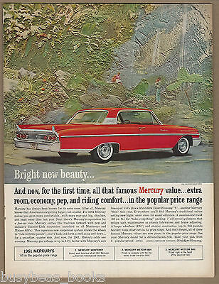 1961 MERCURY MONTEREY advertisement, 2-door hardtop, large format advert