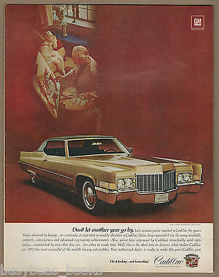 1970 CADILLAC advertisement, Cadillac Coupe deVille, large format advert