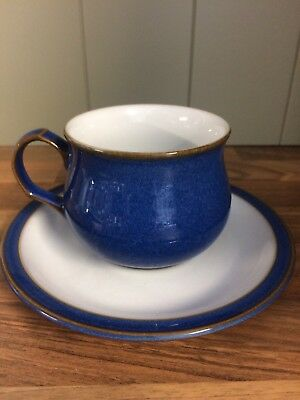 denby imperial blue Cup And Saucer