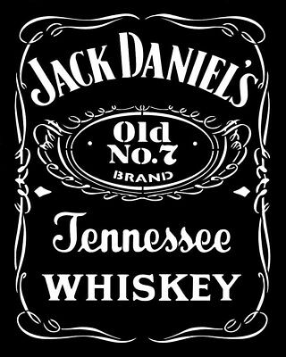 high detail airbrush stencil jd whisky logo FREE POSTAGE