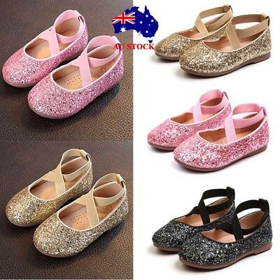 Child Kid Girls Infant Toddler Sequins Dance Ballet Shoes Party Princess Sneaker