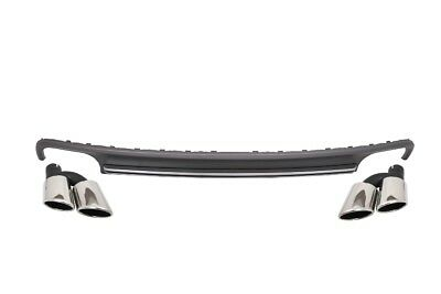 For Audi A7 4G 10-14 Rear Bumper Valance Diffuser&Exhaust Tips S7 Facelift Desig