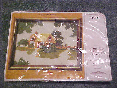 #1612 Creative Circle Country Cottage Cross Stitch Kit - New In Package!