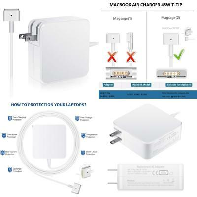 MacBook Air Charger, 45W MagSafe 2 Power Adapter Magnetic T-Tip Ac Charger...