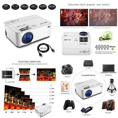 Mofek 1800 Lumens LED Mini Projector with 170 inch Display, Full HD Home...