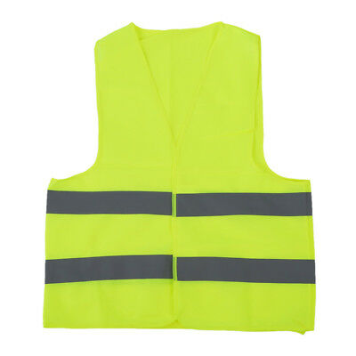 Safety vest Reflecting Strips Yellow Fluorescent High Visibility W5E6