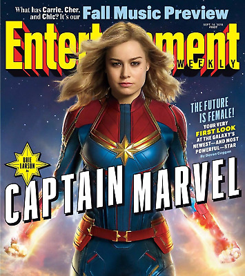 Brie Larson Captain Marvel Future Is Female Entertainment Weekly September 2018